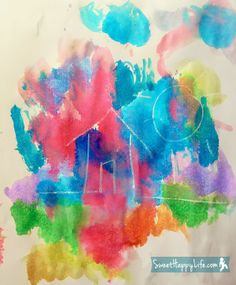 Secret Message Watercolor Painting - use white crayon to write a simple word or drawing and have kids paint with watercolor to discover message.