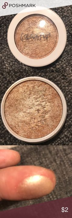 Colourpop Highlighter Color is called churro...was a limited edition highlighter by Colourpop Colourpop Makeup Luminizer