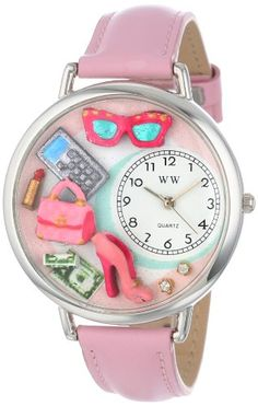 Whimsical-Watches-Unisex-U1010008-Shopper-Mom-Pink-Leather-Watch-0
