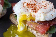 Lighter eggs Benedict with mock Hollandaise sauce