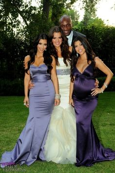 Purple and Lavender...I like the way Khloe Kardashian did it for her wedding
