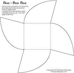 Bon Bon Box Template – Paperandmore.com