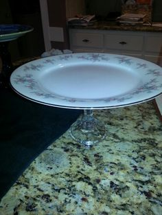 Lenox fine China plate 1$ plus glass candlestick for 0.75....amazing