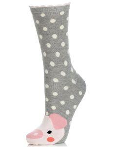 Penelope Pig Face Socks | Multi | Accessorize