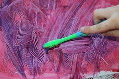 Eric Carle inspired art