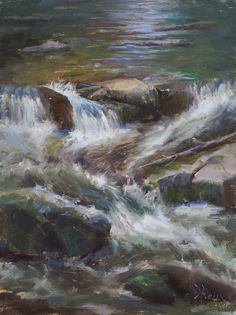 Jacob Dhein (oil on linen) Water Pictures, True Art, Figure Painting, Nature, Most Beautiful, Coastal, Waterfall, Scenery, Rivers