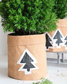 (Weihnachtliche) Übertöpfe aus SnapPap selber nähen | DIY christmas crafts idea & project