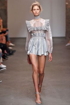 10 Fashion Month Trends You Can Actually Shop NOW #refinery29  http://www.refinery29.com/fashion-week-trends-to-buy-now#slide-1  Ruffled BlousesOne trend we literally can't wait to get our hands on is the Victorian-inspired, high-necked, ruffled blouses that graced the runways of Zimmermann, Alexander McQueen, and more. Pieces like these are easy to wear to work or with boyfriend jeans on the weekends — they make any outfit feel instantly more polished.Zimmermann...