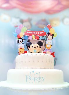 Disney Tsum Tsum Baby Shower Party Ideas | Photo 1 of 16 | Catch My Party