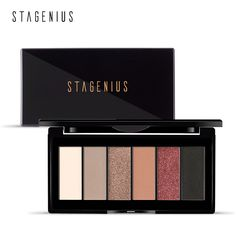 Stagenius Eye Shadow 6 Color Matte Glitter Smoky Shade Make Up Chic Fashion And Beauty Makeup Fashionable Patterns Eye Shadow