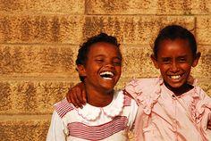 Eritrea, Asmara–two happy girls.