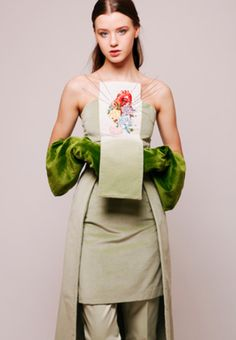 Enric Marti - BCN Marti, Fabric Combinations, Leather Backpack, Fashion Backpack, Fall Winter, Embroidery, Infinite, Green, Editorial