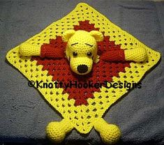 Knotty Hooker Designs: Pooh Lovey Blankie