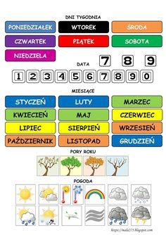 Toddler Learning Activities, Fun Learning, Learn Polish, Polish Language, Teachers Corner, November, Juni, Calendar, Blog