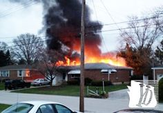 Firefighters respond as fire spreads at a home in the 2700 block of Clearbrook Boulevard Tuesday, April 16, 2013. submitted photo Sandy Folkenroth