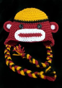 Florida State Seminoles Sock Monkey Hat by cottoncandycraftings, $30.00