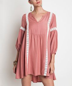Another great find on #zulily! Dusty Rose Babydoll Tunic Dress by UMGEE U.S.A. #zulilyfinds