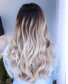 Contrast Ombre made by @styleelin #ombre #longhair #hairstyle #styleelin