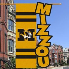 Missouri Tigers 28'' x 44'' Cut-Out Applique Banner Flag - Gold/Black
