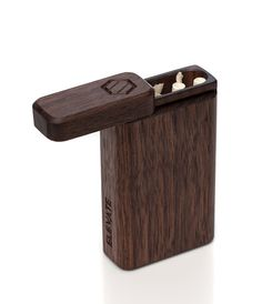 Vintage Cigarette Case, Cigarette Box, Dugout Pipe, One Hitter, Small Wood Projects, Wood Glass, Glass Art, Smoking Accessories, Woodworking Projects Diy