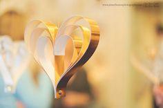 Metallic Heart Ornaments from Bookity (Etsy)