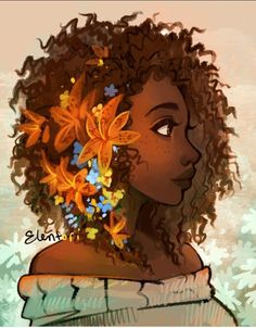 Frank you are a really lucky person. Art by elentoriYou can find Hazel levesque and more on our website. Frank you are a really lucky person. Art by elentori Black Girl Art, Black Women Art, Black Art, Art Girl, Natural Hair Art, Natural Hair Styles, Arte Black, Art Africain, Illustration