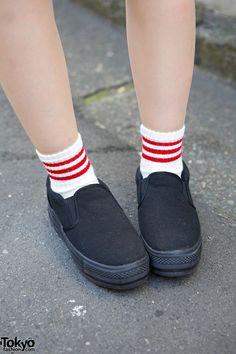 Striped Socks & Slip-Ons