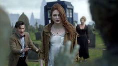 The Angels Take Manhattan. Amy blinks to join Rory in the past and creates a fixed point in time. Don't go, Amy! Doctor Who