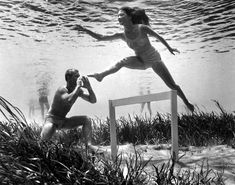 Playful Scenes Captured Subsurface by the Pioneer of Underwater Photography in 1938 - My Modern Met