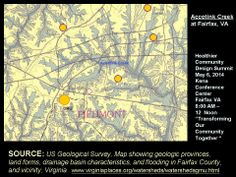Accotink Creek watershed at Fairfax VA.. Note that GMU is on Pohick Creek watershed and not Accotink as is Merrifield, Mantua, Dunn Loring & Fairfax Cirle area of Fairfax City.   American Civil War 1862-1865 Cultural Resource Area__Hallowed Ground USA . Old Lee Hwy to Little River TPK (State RT 236). Click photo for GMU Pohick Creek topic.