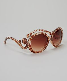 Look what I found on #zulily! Bubbly Bows Brown Leopard Swirl Sunglasses by Bubbly Bows #zulilyfinds
