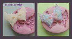 Mardi Gra Mask Silicone Mold Clay Resin Fondant by WhysperFairy
