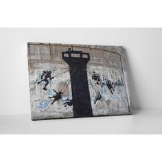 Banksy 'Watchtower Swing Carousel' Gallery Wrapped Canvas Wall Art