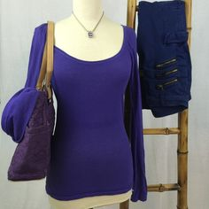 American Eagle Outfitters Top Size small. Gently loved. Long sleeve. No odors. No staining. No visible defects. A purple blue in color. American Eagle Outfitters Tops Tees - Long Sleeve