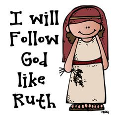 Ruth loved and followed Naomi because she followed the one true God. https://www.etsy.com/shop/melonheadzdoodles?ref=l2-shopheader-name