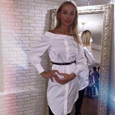 Белая модная женская рубашка Tisa s-2813110, цена 330 грн., купить ...