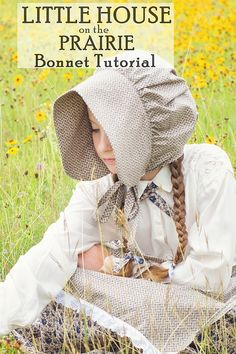 Little House on the Prairie Costume / Bonnet Tutorial. Perfect for a Laura Ingalls Wilder costume or as a pioneer costume. Sewing Patterns Free, Free Sewing, Sewing Tutorials, Free Pattern, Sewing Projects, Pioneer Bonnet, Pioneer Costume, Pioneer Clothing, Pioneer Trek