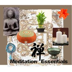 Meditation Essentials, created by coffeegrl.polyvore.com Meditation Rooms, Essentials, Table Decorations, Create, Simple, Polyvore, Design, Home Decor, Women