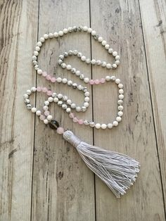 Boho 108 Mala Bead Necklace/Gemstone Mala by BeSoHum on Etsy