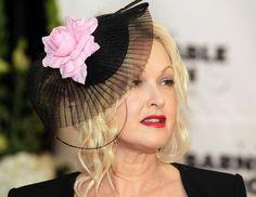 Cyndi Lauper in her Kentucky Derby Hat.