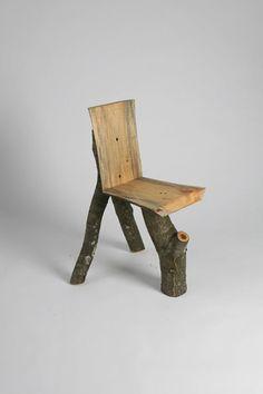 William S Stone chair sculpture