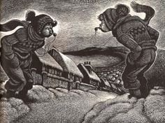A Child's Christmas in Wales, Illustrated by Fritz Eichenberg ~ Wood Engraving
