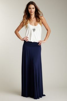 I like that kind of shirt better with a maxi skirt