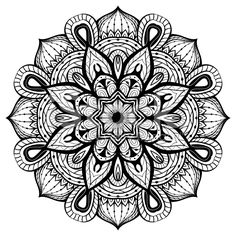 East, abstract, vector, mandala on a white background royalty-free stock vector art
