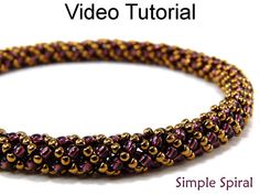 Beading Tutorial Pattern Russian Spiral Stitch by SimpleBeadVideos