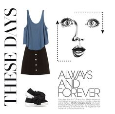 """""""Untitled #14"""" by binbirin on Polyvore featuring AG Adriano Goldschmied, RVCA, Joshua's and GE"""