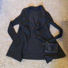 White House|Black Market charcoal cardigan White House|Black Market charcoal cardigan. In great condition! 76% viscose 24% nylon. White House Black Market Sweaters Cardigans