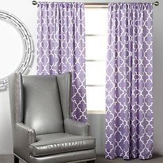 Pretty purple curtains-must have these for the nursery!