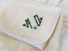 Vintage Napkin Antique Monogram M D Embroidered Organic Linen Table Embroidery Decoration Brocante Retro France Cotton Mother's Day France, Fendi, Napkins, Shabby, Bio, Etsy, Embroidery, Antiques, Fabric