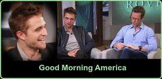 Robert Pattinson & Guy Pearce No Programa Good Morning America - 17.06.2014 Rober Pattinson e Guy Pearce particiaram do programa 'Godd Morning America', em Nova York, nessa terça-feira, 17 de junho, Robert Pattinson, revelou durante a entrevista que gostaria de ter uma inusitada carreira paralela a de ator em Hollywood. Pattinson deseja se tornar também um stripper de boate.